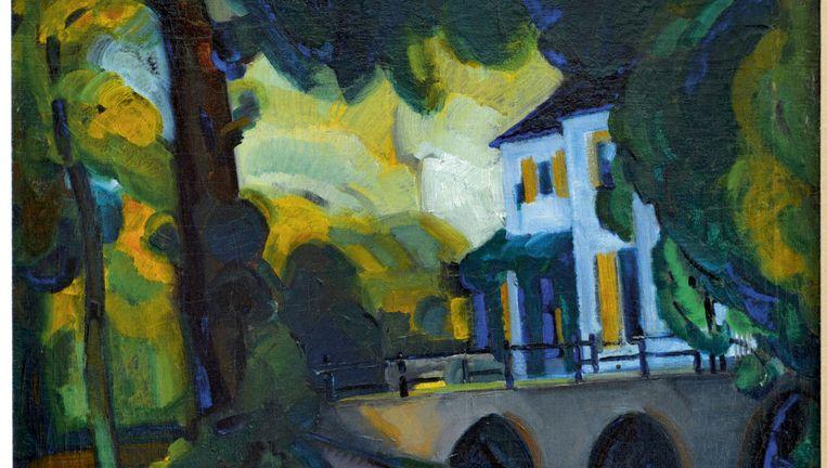 Eén van de werken van de Bergense School die door Renée Smithuis zijn geschonken aan het Singer Museum laren: Het Hof te Bergen (1916) van Mommie Schwarz. Beeld Henk Brands000