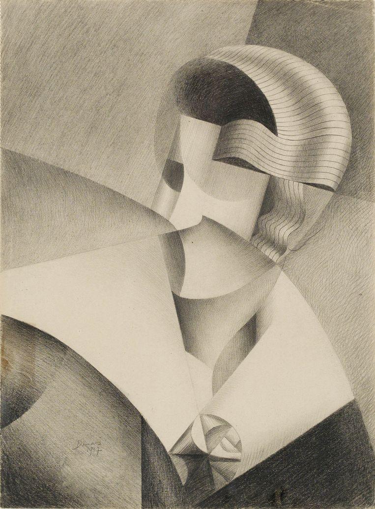 Kubistisch hoofd, 1917. Beeld Cedric Verhelst