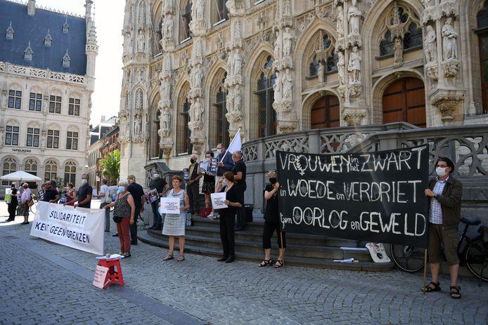 Steunactie op Grote Markt voor hongerstakers