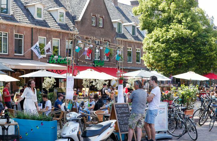 Terrassen op de Markt in Wageningen