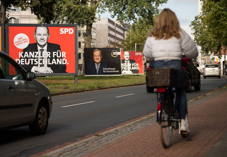 Verkiezingsborden in Bremen. Beeld Getty Images