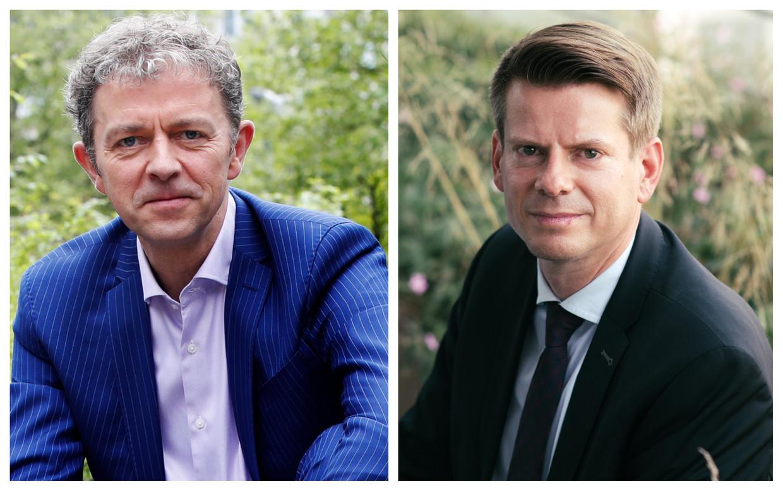 Weermannen Frank Deboosere en David Dehenauw. Beeld Kristof Ghyselinck - Tine Schoemaker