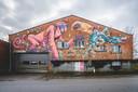 Graffitimuur in de Aziëstraat.