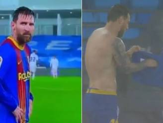 En plots leek Messi geen 33 maar 53 jaar: Madrileense stortbui laat 'Vlo' bibberen van de kou