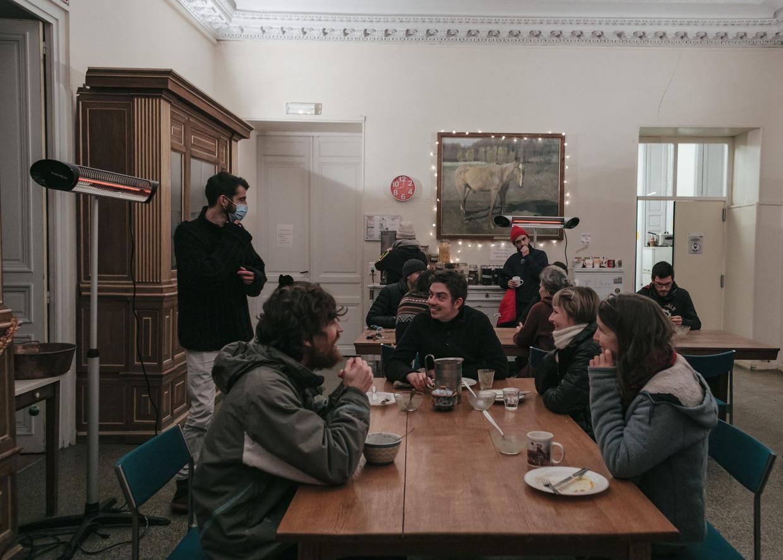 Zo'n 700 studenten telt de Campus de la Transition, die in een 18de-eeuws kasteel is gevestigd . Beeld Hollandse Hoogte / The New York Times Syndication