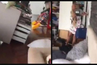 Ladekast valt voorover, doodsbange vrouw klampt zich vast aan muur: dit filmpje toont hoe schrikwekkend aardbeving in Mexico was