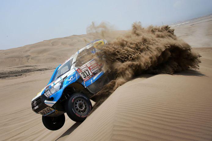 Erik van Loon in de Dakar Rally 2019.