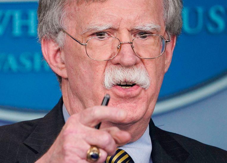Trumps veiligheidsadviseur John Bolton drong al langer aan op de beëindiging van het akkoord. Bolton zou ook alle onderhandelingen over een verlenging van het New Start-verdrag over strategische raketten blokkeren. Beeld AFP