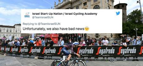 Pechvogel van de Giro: renner uit Letland valt uit na val op weg naar hotel