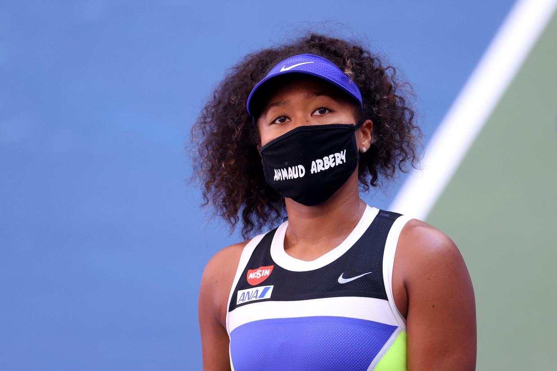 Naomi Osaka tijdens de US Open, vorige maand in New York. Beeld AFP