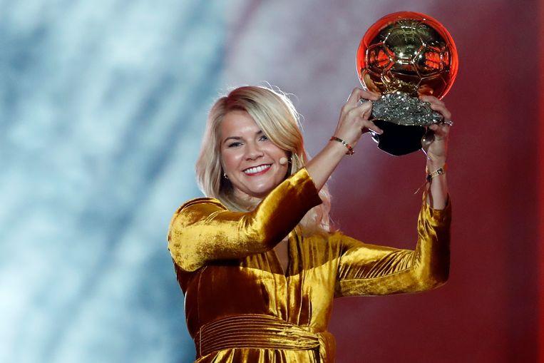 De Noorse Ada Hegerberg werd verkozen tot beste vrouw van 2018. Beeld AP