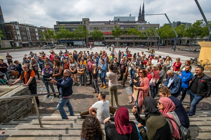 Anti pergida demonstratie stadhuisplein Eindhoven
