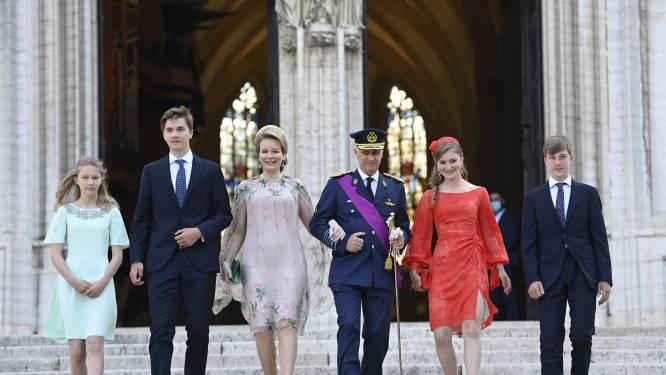 IN BEELD. Koning Filip en zijn gezin wonen 'coronaveilig' Te Deum bij in Brussel