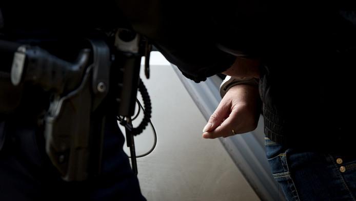 Een tiener kon dit weekend pas worden aangehouden nadat andere, toegesnelde agenten wel hun wapen hadden getrokken.