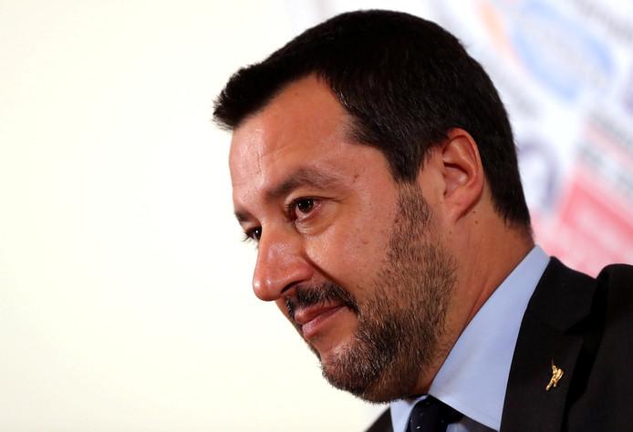 De Italiaanse vicepremier en minister van Binnenlandse Zaken Matteo Salvini van de extreemrechtse Lega.