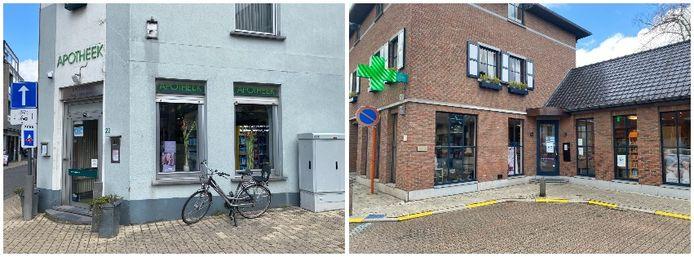 Apotheek Heylen in de Leuvensestraat en apotheek Bollen in de Bogaardenlaan