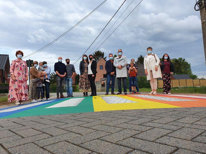 De gemeente Lille zal in totaal vier regenboogzebrapaden laten aanleggen.