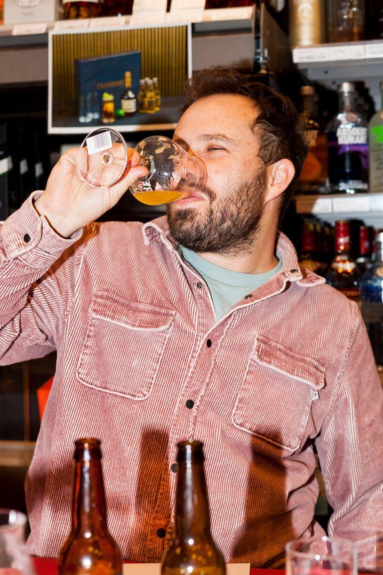 Samuel Levie: bierliefhebber en worstmaker. Beeld Renate Beense