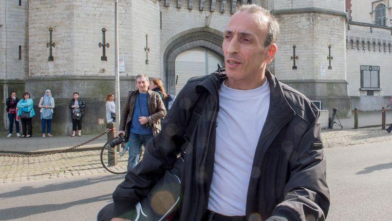 Farid 'le Fou' Bamouhammad bij zijn vrijlating uit de gevangenis van Sint-Gillis op 10 april van vorig jaar.