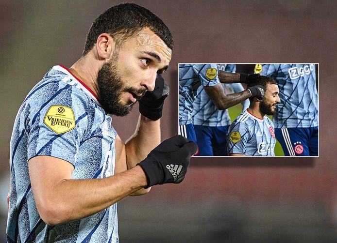 Zakaria Labyad krijgt na zijn goal tegen AZ een knipbeurt (inzet).
