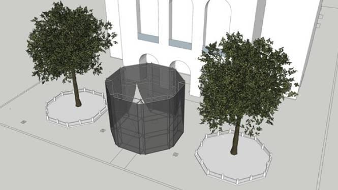 Geen URB-festival, maar wel een paviljoen aan Stadsschouwburg