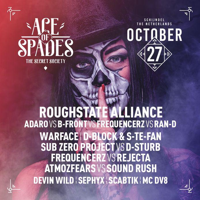 Het affiche van Ace of Spades 2018 in Schijndel.