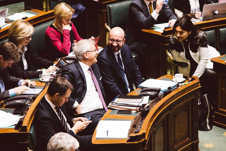 Premier Charles Michel in de Kamer. Beeld Francis Vanhee