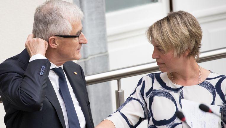Vlaams minister-president Geert Bourgeois (N-VA) schrapte de door minister Joke Schauvliege (CD&V) opgestelde boskaart. Beeld BELGA