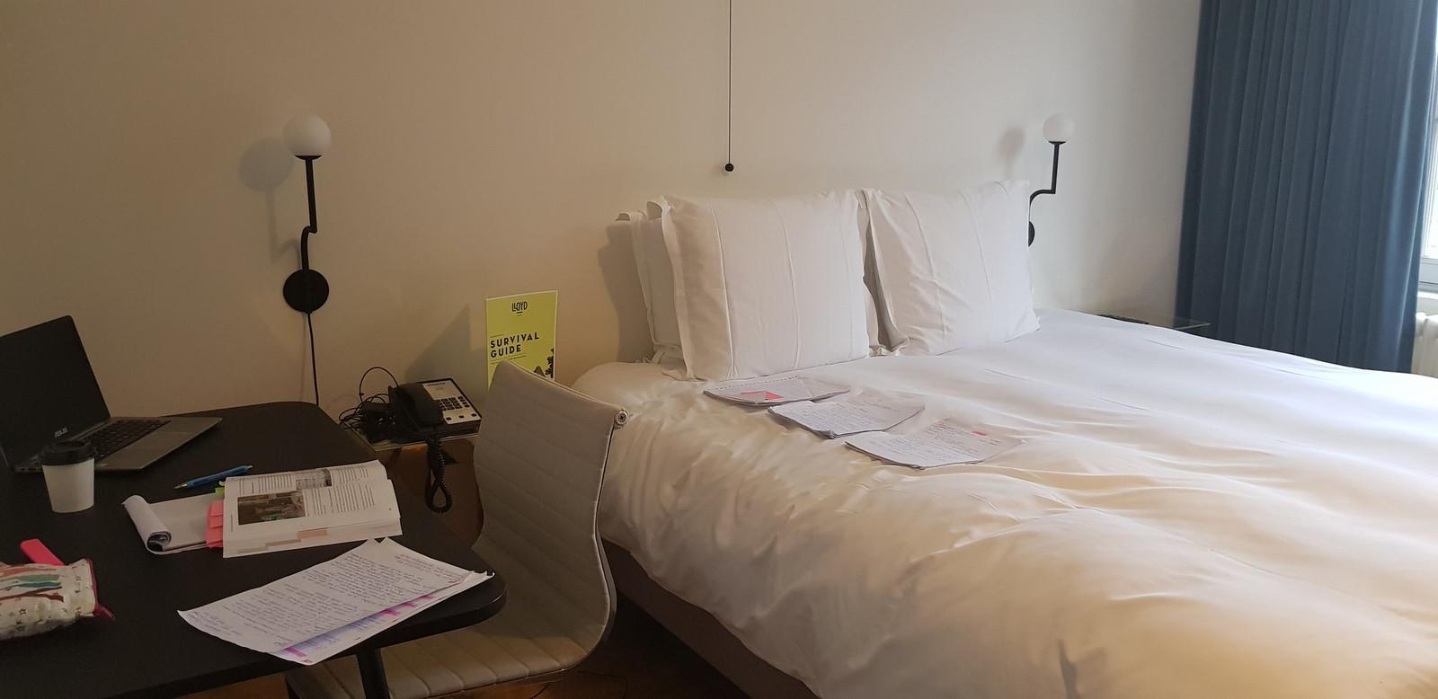 De hotelkamer van Annemarie.