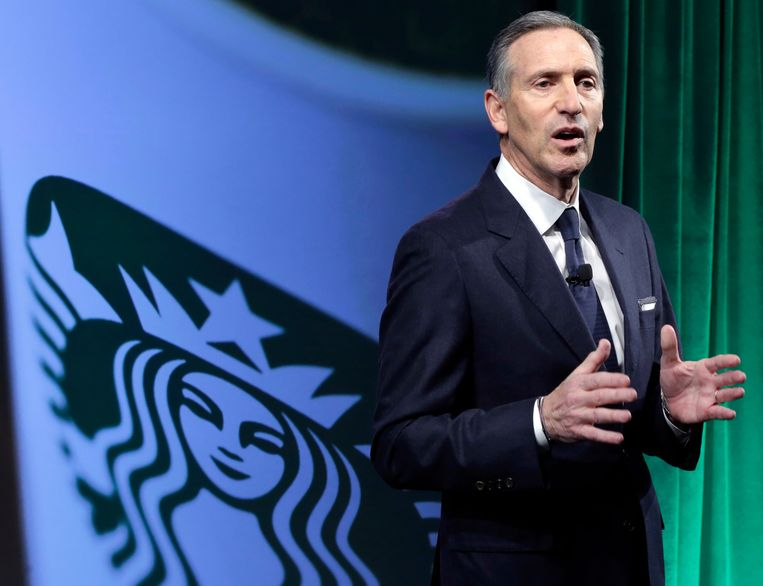 CEO van Starbucks Howard Schultz. Beeld AP