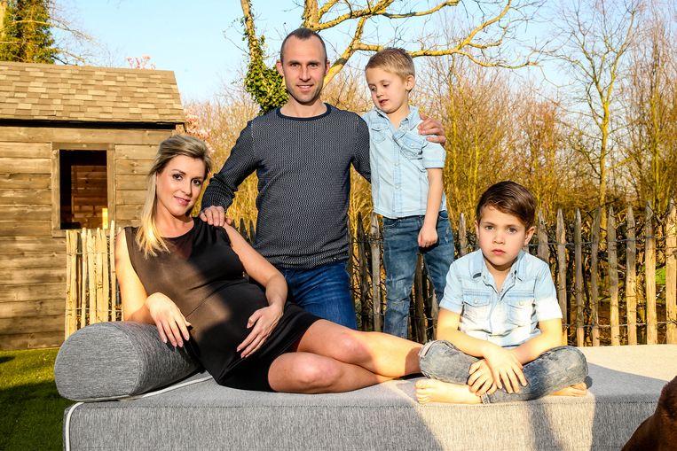 Annabel en Thomas Buffel en tweeling Fausto en Maceo, die Thomas met zijn overleden vrouw Stephanie De Buysser kreeg.