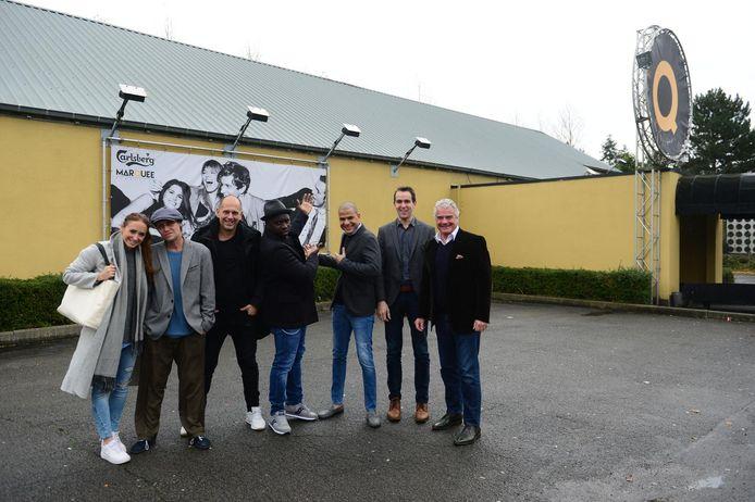 Van links naar rechts: Karlijne en Mike Alvarez van dansschool 2-Step Dance Company, Marco Marra en Serge 'Crazy Sir-G' zorgen voor artistiek gedeelte, Eddy Martens van pr, Didier Deppe is commercieel manager en Jean-Pierre Penders, zaakvoerder van The Marquee.