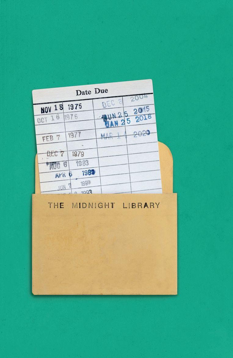 Schutblad The Midnight Library, ontwerp Rafaela Romaya, 2020. Beeld Canongate