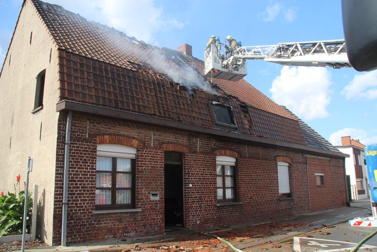 De brandweermannen hadden het vuur snel onder controle.