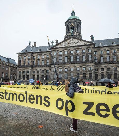 Demonstratie in Westerpark tegen windmolenplannen