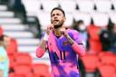 Neymar viert zijn goal.