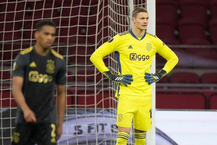 Kjell Scherpen blundert bij de gelijkmaker van AS Roma.