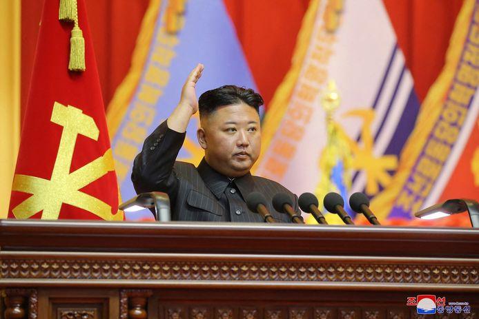 De Noord-Koreaanse machthebber Kim Jong-un.
