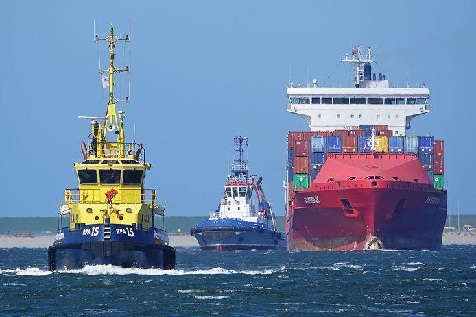 Loodsboten in de Rotterdamse Haven.