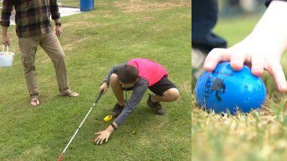Piepende paaseitjes helpen blinde kinderen tijdens zoektocht