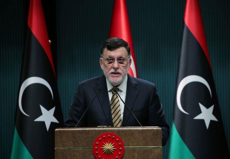 Premier Fayez al-Sarraj van Libië staat zwaar onder druk. Beeld via REUTERS