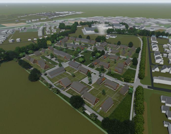 De eerste plannen voor de nieuwbouwwijk aan de Molenweg in Heino.