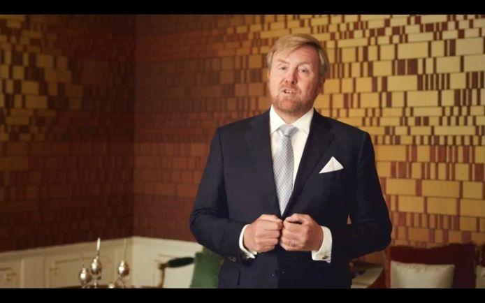 Koning Willem-Alexander sprak in een videoboodschap de Algemene Vergadering van de Verenigde Naties toe ter gelegenheid van de 75ste verjaardag van de organisatie.