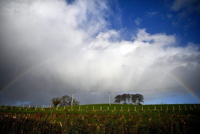 De grens tussen de Ierse Republiek en Noord-Ierland.