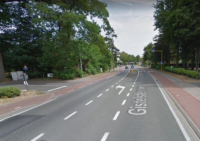 Het ongeval vond plaats op het kruispunt van de Nieuwenhovedreef en Gistelsteenweg.