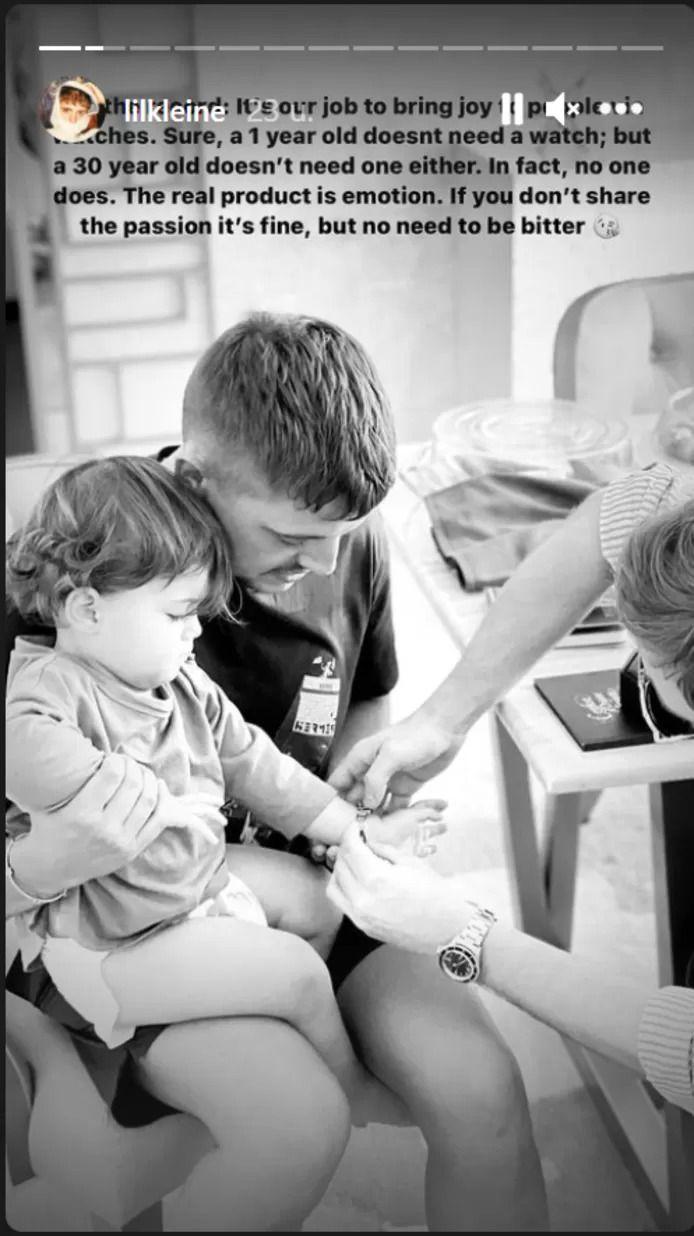Lil' Kleine verdedigt peperduur horloge voor 1-jarige zoon Lío