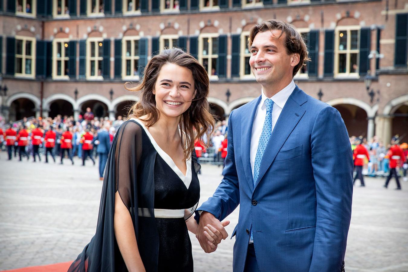 Thierry Baudet met vriendin Davide Heijmans tijdens Prinsjesdag 2019.