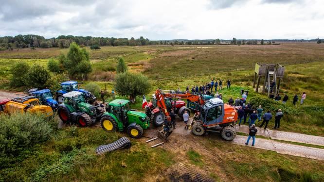 Boerenprotest in Wierden: 'Veen? Hier ís helemaal geen hoogveen meer'