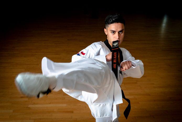 Taekwondoka Adil Belkadi.