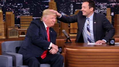 "Donald Trump boos op talkshowhost Jimmy Fallon: ""Wees een vent, Jimmy"""